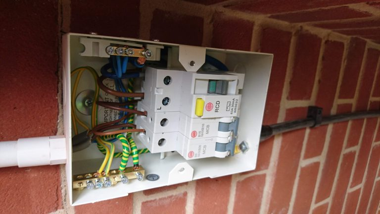 Garage Consumer Unit installed and tested Essex